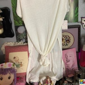 NWT Free People long white Cowl neck blouse